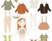 Cauliflower Crew Paper Doll Collection: Pumpkin