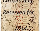 Custom Bag Reserved for Joy