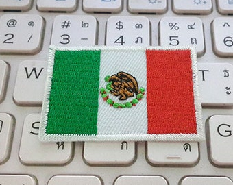 Mexico Flag Iron on patch - Flag Applique Embroidered Iron on Patch