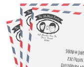Custom Cartoon Return Address Stamp with Hand Drawn Cartoons