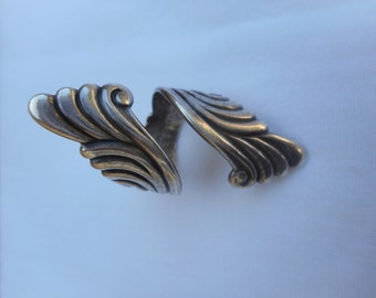 Sterling Silver Finger Wrap Style Vintage Ring