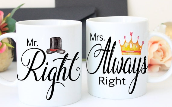 Wedding Gift Mr And Mrs Mugs Bridal Shower By MonogramRevolution