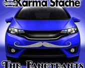 """48"""" Car Mustache Vinyl Decal Sticker - Style; Fancypants - Color; Gray  -  Karma Stache: Your #1 Source for Car Mustaches!"""