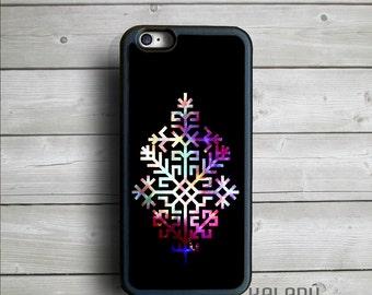 Folk iPhone 6 Case, Black iPhone Case, Latvian Ethnic Sign iPhone 6s Case, Austras Koks Case Black