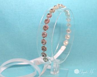 Wedding Flower Crystal Headband, Bridal Headband, Prom, Wedding Accessory, Bridal Headpiece, Wedding Headpiece, Bridesmaid, Flower Girl