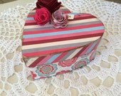 Small Paper Mache Valentine Heart Box