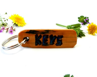 Recycled Wood Key Chain