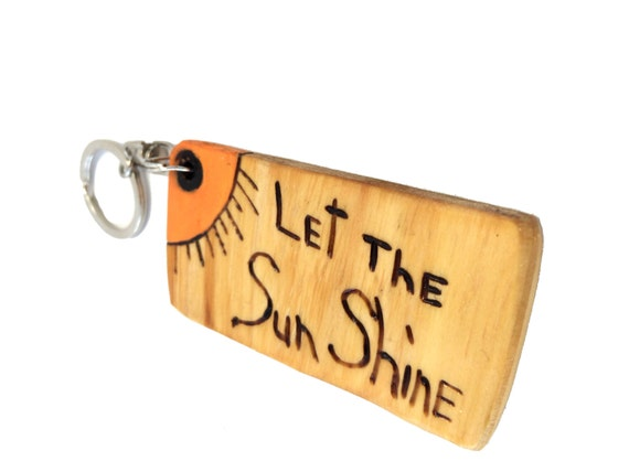 Positive Message Key Chain from Feath and Kee