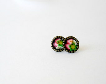 Fruit  post earrings- Cute everyday studs- Strawberry banana star fruit earrings