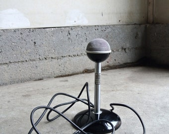 Vintage Brush Acousticel BA 106 Crystal Microphone With Stand - Recording Equipment - Music Studio - Guy Gift - Collectible Microphones