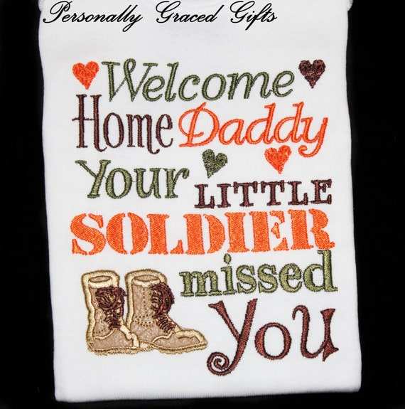 Items similar to army military welcome home daddy your for Welcome home troops decorations
