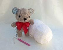 crochet pattern bear Sofie Vintage / ebook / doll teddy bear / classy / gift / knitted / art doll / softie / cute kawaii amigurumi