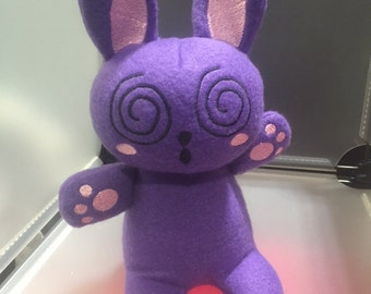 Rabbit Bunny Plush Plushie Toy Huh the Purple Rabbit