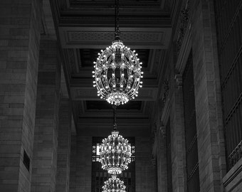 grand central station photography, new york city photography, grand central terminal, black and white photography, nyc decor, large wall art