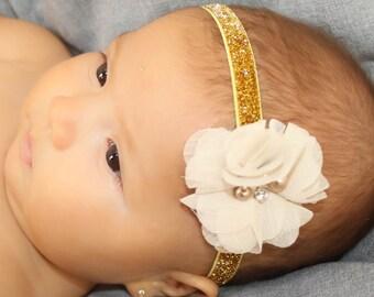 flower headband, baby headband, newborn headband, headband, baby girl headband, infant headband, baby flower headband, flower girl headband
