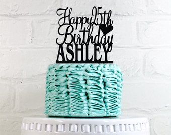 Happy 25th Birthday Cake Personalized Wedding Toppers