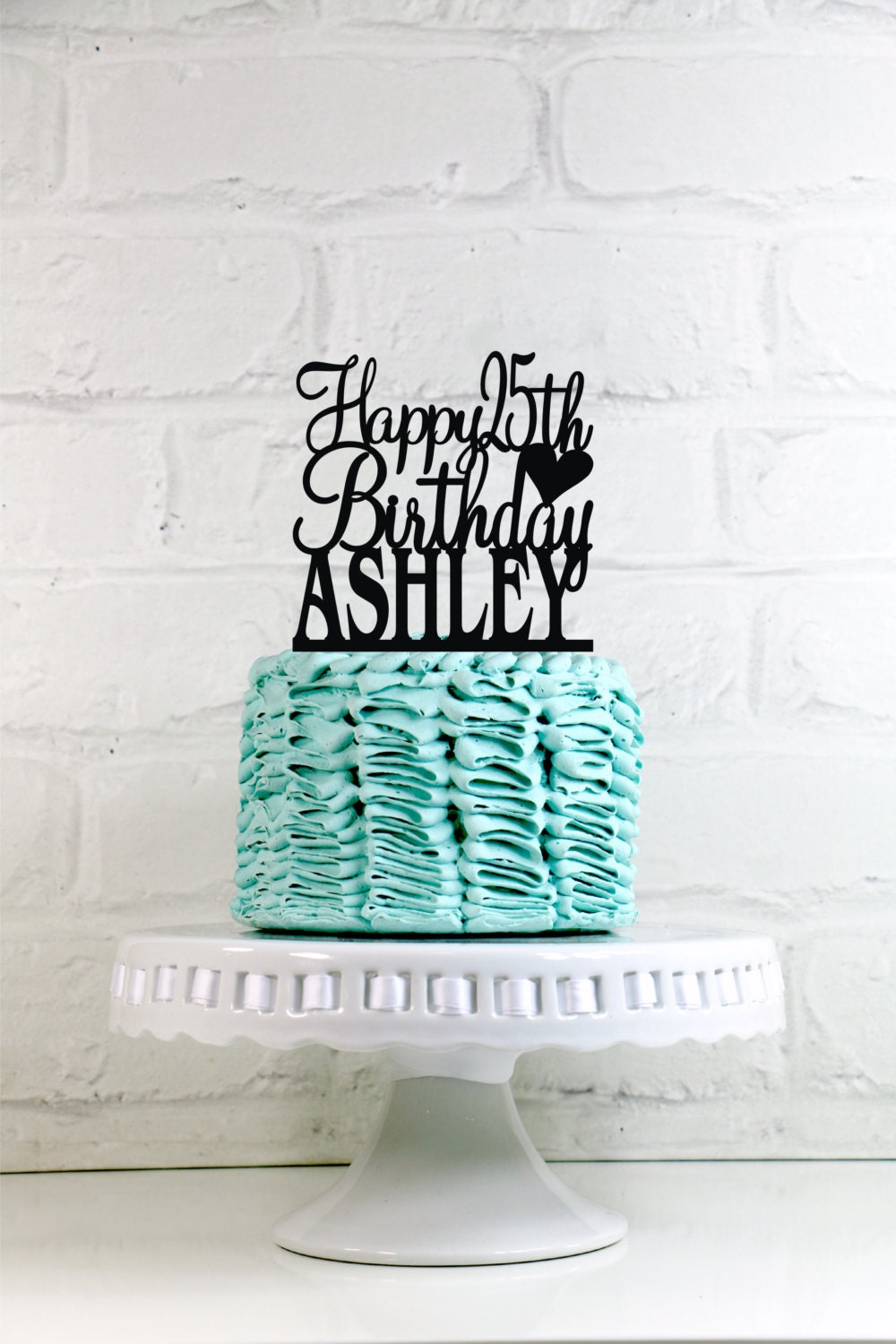 Happy 25th Birthday Cake Topper Personalized With Name And Age