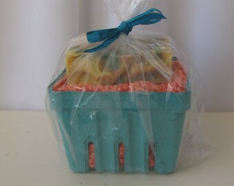 Cotton Spa Gift Set, Hand Knit Washcloth plus Cold Process Soap, Several Variations Earth Friendly Gift Discount for Multiples Ready to Ship