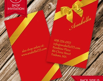 Gift Bow Business Card (Free Shipping)