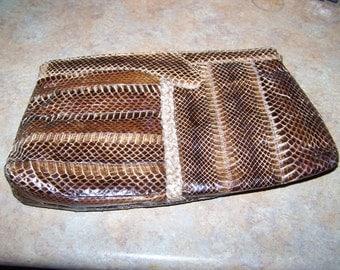 A Vintage Faux Reptile Snake Skin Purse Handbag