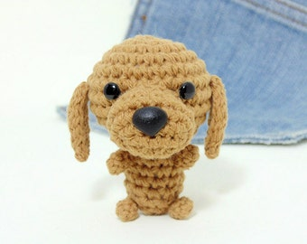 Amigurumi Dachshund, crochet dachshund. Dog stuffed toy. Crochet dog.Stocking stuffer.