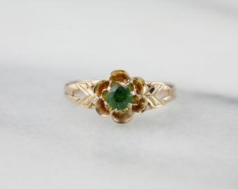 Dematoid Buttercup, Vintage Dematoid Garnet Ring  0NL105-R