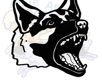 German Shepherd Car Decal