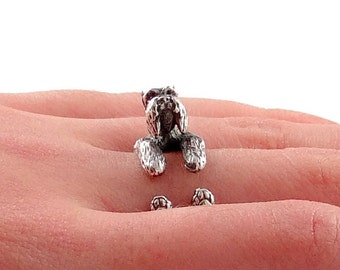 Schnauzer Ring, Miniature Schnauzer, Mini Schnauzer, Schnauzer Jewelry, Animal Ring, Silver Ring, Sterling Silver Ring, Animal Jewelry, Dog
