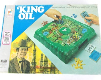 1974 Milton Bradley King Oil Vintage Board Game Complete
