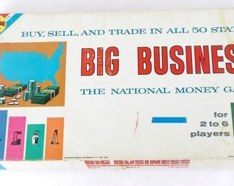 60s Transogram BIg Business Buy Sell Trade Vintage Board Game Complete