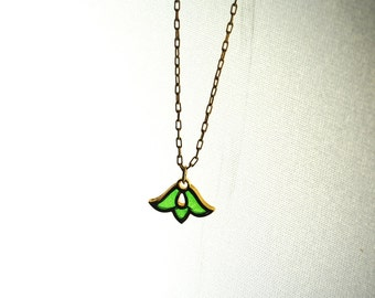 Vintage Necklace Poured Glass Christmas Gift Stocking Stuffer Necklace