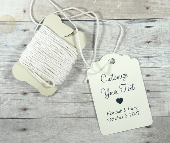 Personalised Wedding Gift Tags : Wedding Gift Tags set of 20 - Personalized Ivory Wedding Favor Tags ...