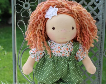"Waldorf doll, 12.5"" tall doll steiner doll, organic doll,fabric doll, cloth doll, handmade"