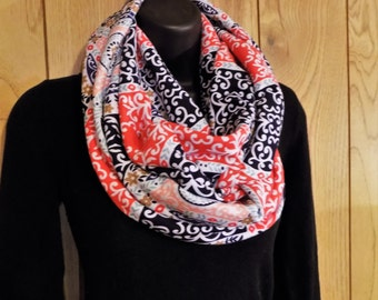 Knit Jersey Fabric Scarf - Infinity Scarf