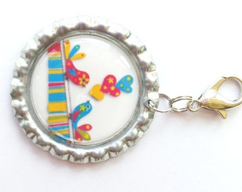 Birdies Zipper Pull, Zipper Pull Charm, Purse Charm, Zipper Charm, Jacket Zipper Pull, Fun Zipper Pull, Backpack Zipper Pull, Zipper Art