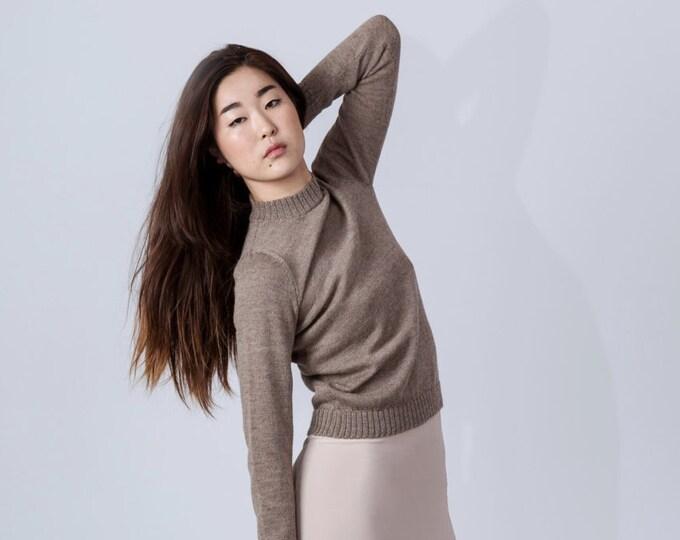 Woman jumper in extra-fine knit / wool jumper knit pullover alpaca wool sweater sweater white black wool sweater / woman wool jumper