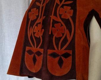 Vintage 60s Tribal Bohemian Cape
