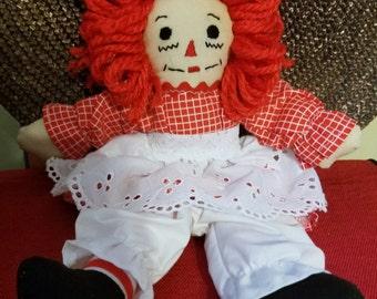 """Raggedy Ann 10"""" Doll 3A"""