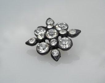 STUNNING! Vintage Rhinestone Button