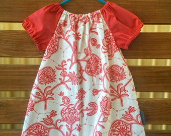 Girls Peasant Style Dress. Lark in Ivory. Size 3