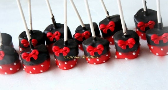 Red Black Birthday Party Favors Red Black Polka Dots Bows