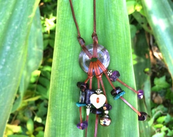 Tahitian pearls on leather, woman statement necklace