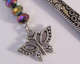 Shimmering Butterflies Jeweled Bookmark (JB188)