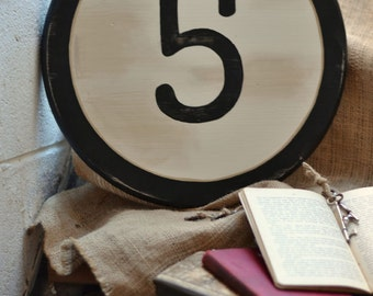 Circle Art, Letter Wall Art, Letter Signs, Number Signs, Gallery Wall Number - Choose Your Letter or Number