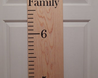 """Childrens growth chart """"Our growing Family"""""""