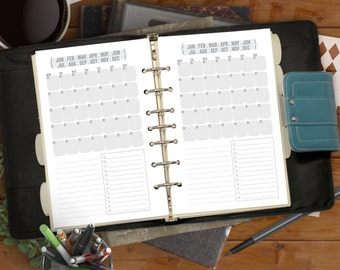 Single Page Month Calendar - Classic Jane Printable for Half-Page and Letter Binders - For Minimalists & Doodlers