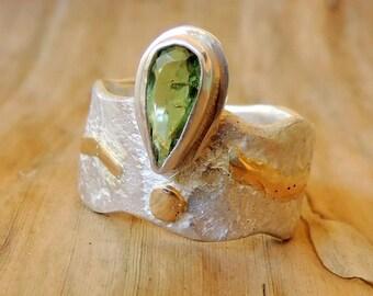 Balmoral Green Tourmaline Ring
