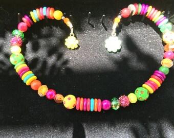 Rainbows and Sunshine Memory Wire Choker