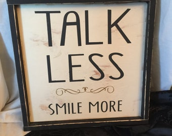 "Shop ""talk less smile more"" in Home & Living"
