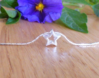 100% Sterling Silver Star Necklace ,Silver Star Necklace, Tiny Star Necklace, Mini Star Necklace, Silver Tiny Star Necklace ,Star Jewelry.